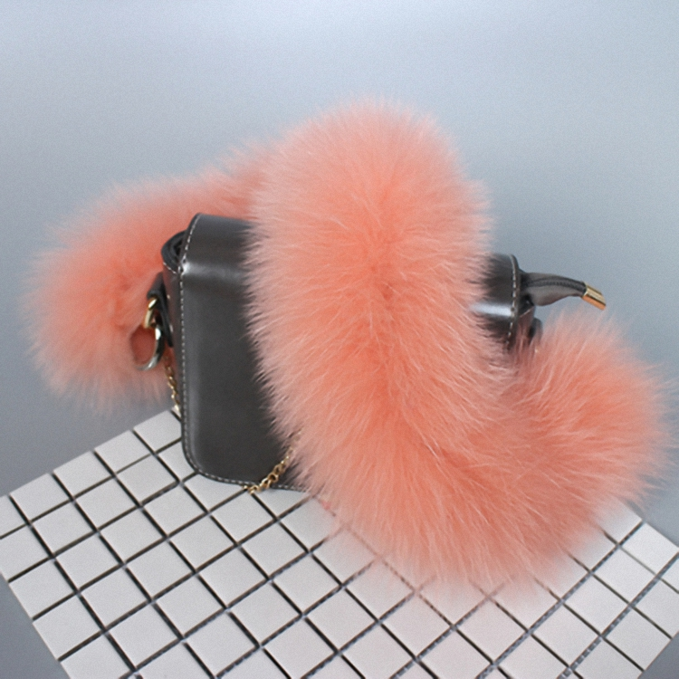 2pcs/lot 55cm Replacement Bag Strap Genuine Real Fox Fur Handbag Should Straps Handle For Women Purse Belts Charm Winter BS003