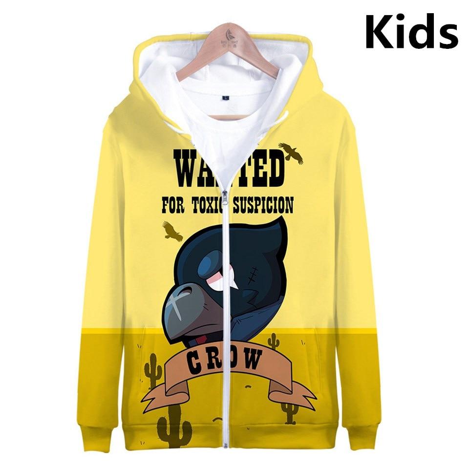 3 To 14 Years Kids Hoodies 3D Shooting Game Printed Hoodie Sweatshirt Boys Girls Harajuku Cartoon Jacket Tops Children Clothes