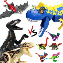 Jurassic World Park Raptor Dinosaurs Tyrannosaurus Rex Indominus Rex Dino Figures Building Blocks Bricks Toys For Children цена в Москве и Питере