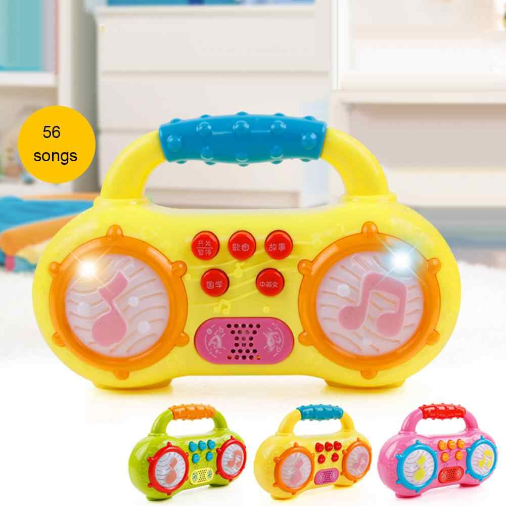 Children Mini Multifunction Radio Music Poetry Instruments Story Led Light Baby Playing Educational Developing Kids Toy Gift Aliexpress