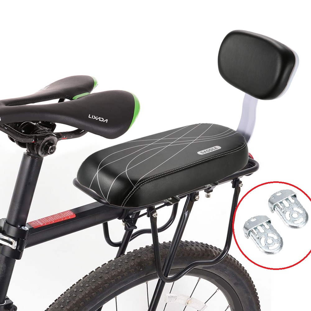 MTB PU Leather Bicycle Back Seat Soft Cushion Rear Rack Cycling Bike Children Rest