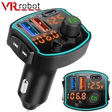 VR roboter FM Transmitter Bluetooth 5,0 Auto MP3 Player Wireless Car Kit mit Typ c PD QC 3,0 schnell Lade Unterstützung Siri