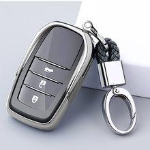 Чехол для автомобильного ключа для Toyota, чехол для ключа Chr Rav4 Auris Avensis Prius Aygo Camry Corolla Land Cruiser 200 Prado Crown, автомобильный брелок для ключей