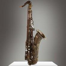 Sevenangel saxofone tenor de alta qualidade profissional b plana sax cobre antigo saxofone woodwind instrumentos musicais com caso