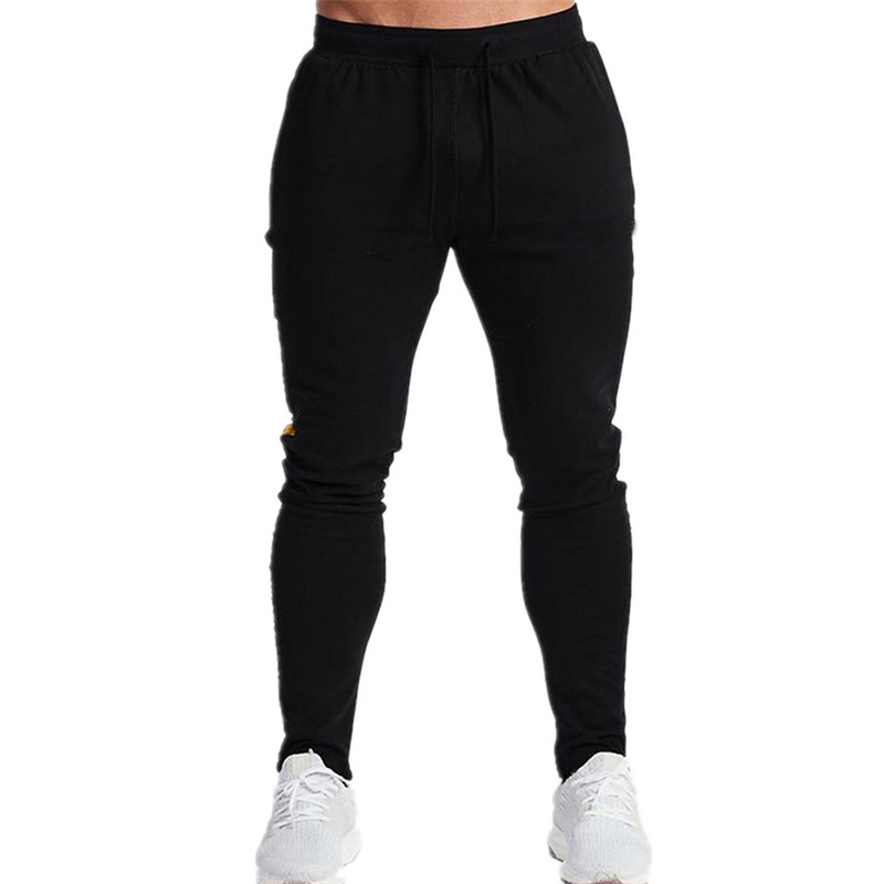 2019 New Jogger High Quality Brand Men's Trousers Gym Bodybuilding Pants Pantalones Hombre Casual Cotton Twill Jogging Pants
