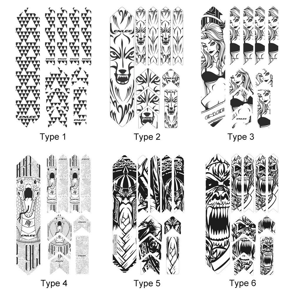 Bike Sticker Reflective Tape Mountain Bike Scratch Resistant Frame Protector Removable Sticker Road Bicycle Frame Guard Cover