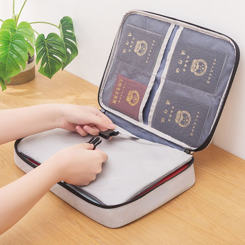 Document Ticket Storage Bag Waterproof Large Capacity for Home Office Travel PXPA 2