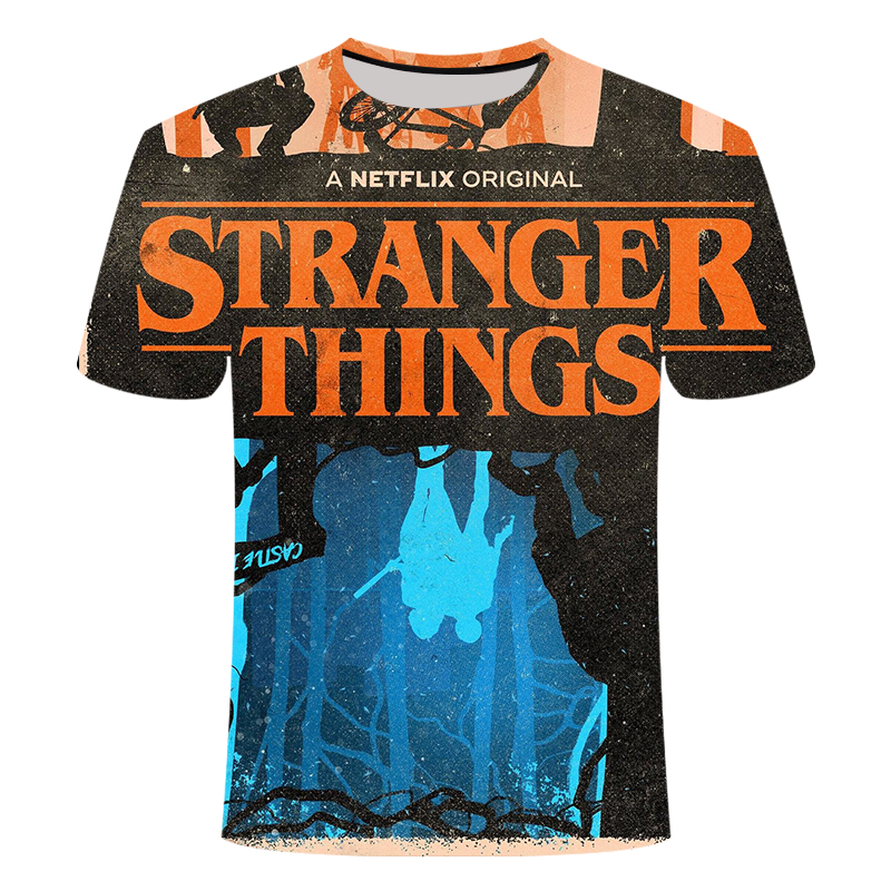 3D printed Tshirt Stranger Things T-shirt men' child's Short Tops Hot Tv series Buy more than one discount large size 6XL summer image