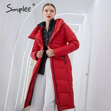 Jackets Long Parkas Women Coats Simplee Winter Female Warm Elegant Casual New-Design