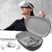 Vr acessórios para oculus quest 2 vr fone de ouvido viagem caso transporte difícil eva armazenamento caixa saco para oculus quest2 bolsa protetora