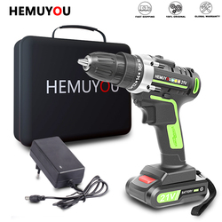 Electric Drill Cordless Screwdriver Mini Wireless Lithium-Ion Battery 12V 16.8V 21V  Power Tools Speed and Torque Adjustable