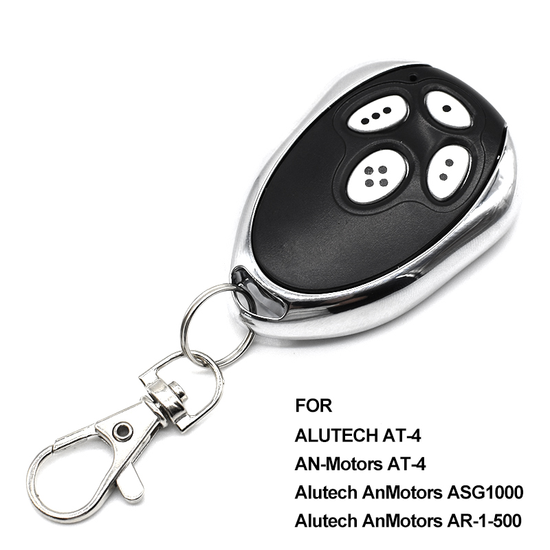 For Alutech AT-4 AR-1-500 AN-Motors AT-4 ASG1000 Gate Remote Control 433.92 MHz Rolling Code Key Chain For Barrier