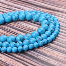 Natural Stone Blue Pine 15.5 PicBlue Peacockk Size 4/6/8/10/12mm fit Diy Charms Beads Jewelry Making Accessories