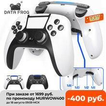 Dữ Liệu Ếch Bluetooth Tương Thích Không Dây Điều Khiển Chơi Game Cho PS4 Tay Cầm PS5 Phong Cách Đôi Rung Tay Cầm Chơi Game Cho PC/ Android điện Thoại