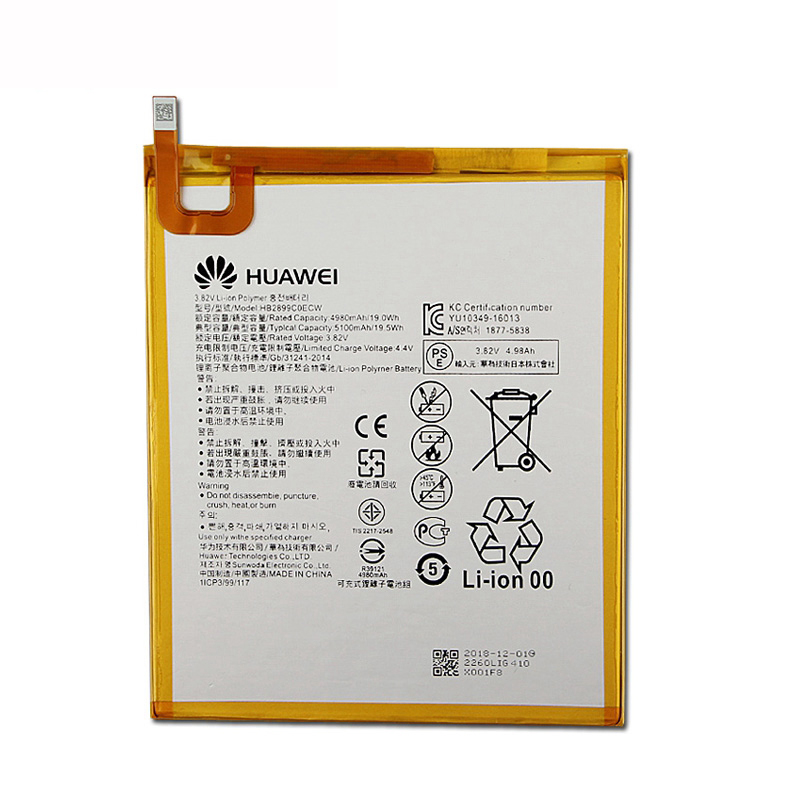 5100mah Original Battery For Huawei MediaPad T5 10 AGS2-L09 AGS2-W09 AGS2-L03 AGS2-W19 Tablet Battery