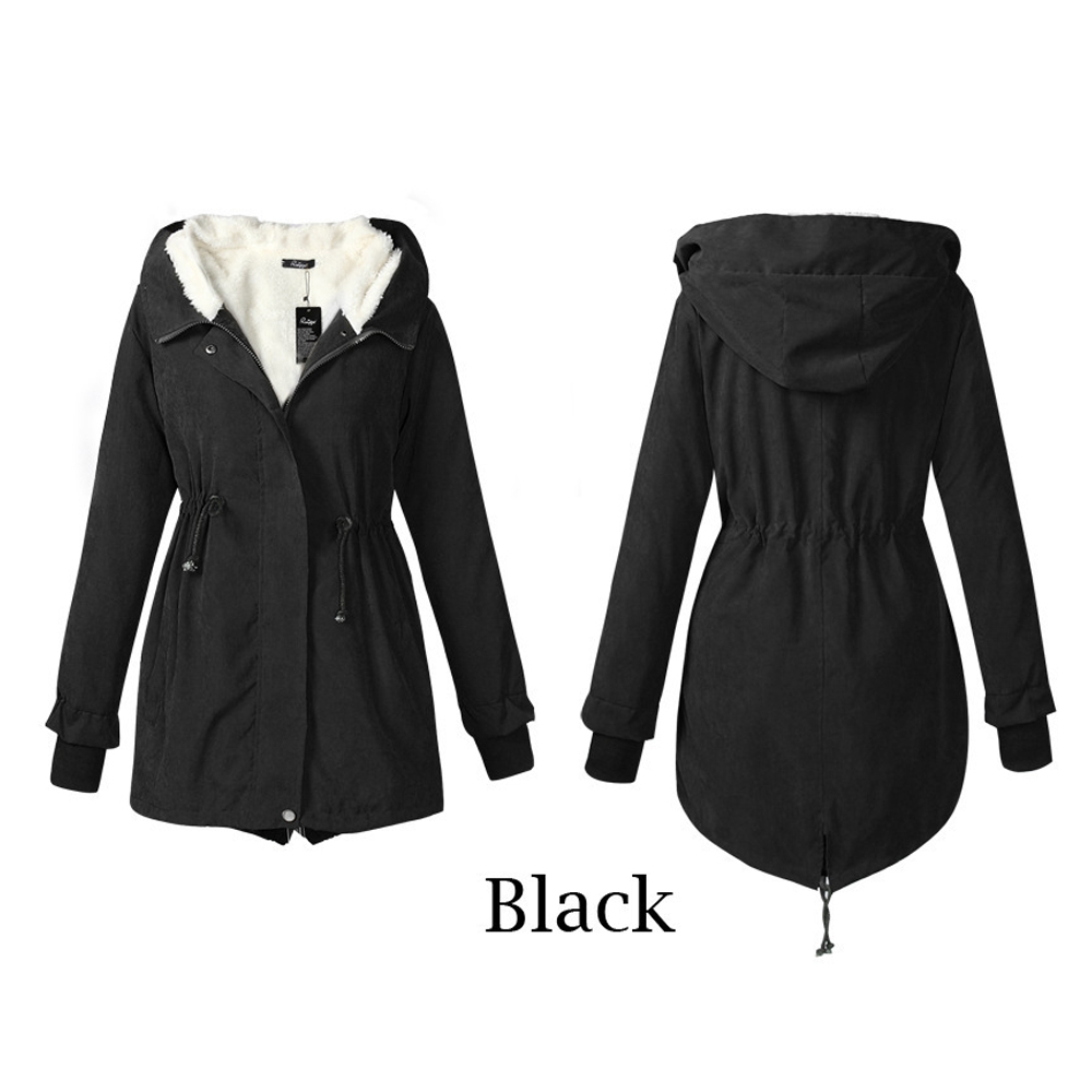 Jocoo Jolee   Parkas   Woman 2019 Winter Mid Long Wadded Coat Thick Jackets Hooded Warm Outwear Casual Overcoats Streetwear