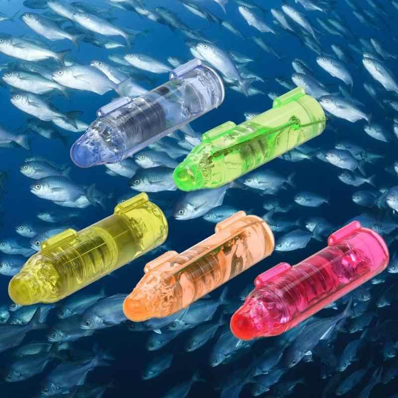 Subaquática mini peixe atração indicador isca led piscando luz isca
