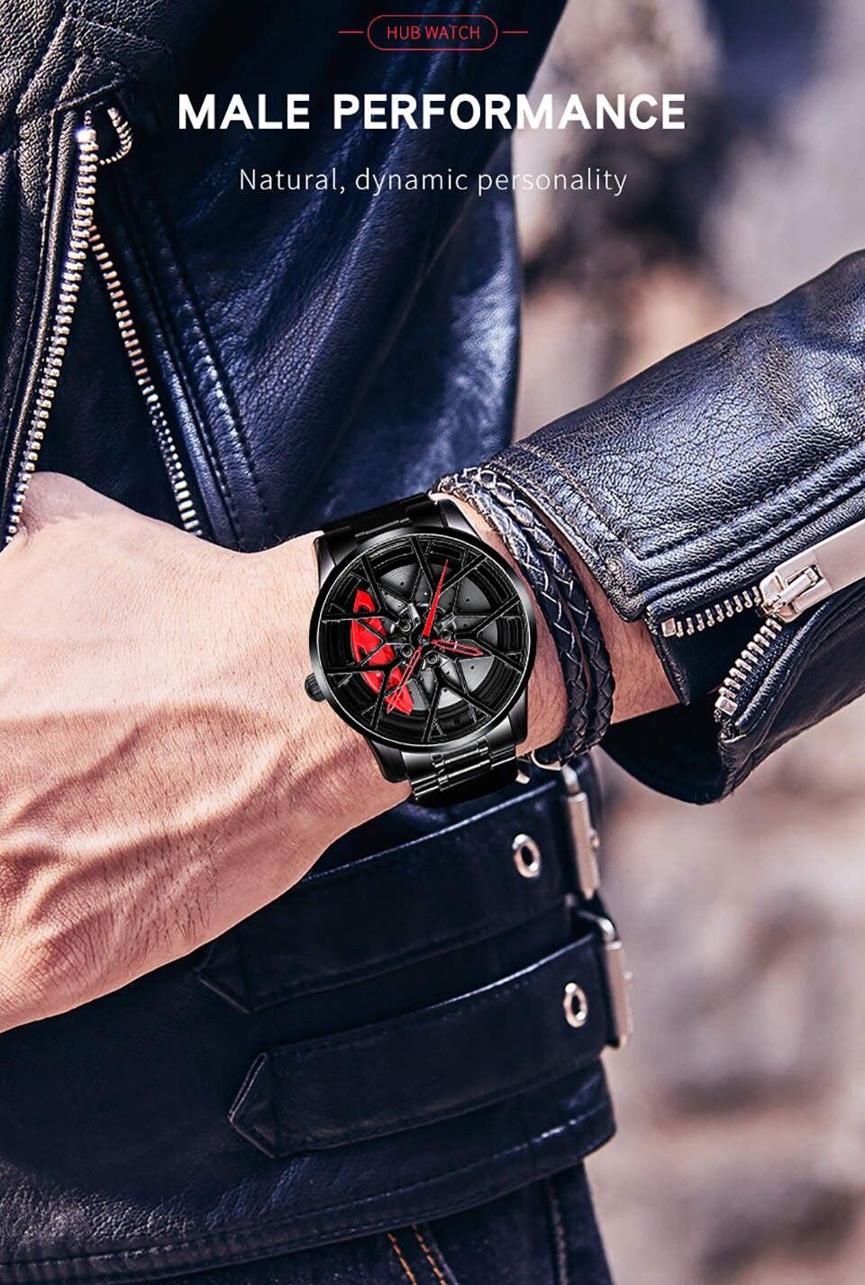 H8d90ddf145ab4da69365261898869b01G NIBOSI 2020 Car Rim Hub Wheel Watch Custom Design