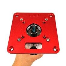 Universel RT0700C Aluminium routeur Table plaque dinsertion bancs de travail du bois routeur coupe modèles Machine de gravure