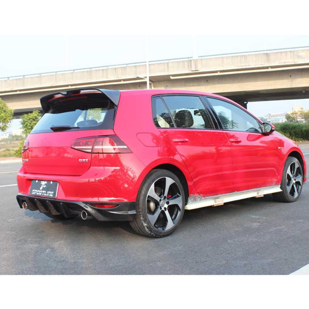 MK7 fibre de carbone/FRP toit arrière aileron aile lèvre pour Volkswagen VW Golf 7 7.5 VII MK7 7.5 GTI R 2014-2018 ailes de fenêtre