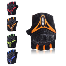 цена Unisex Motorcycle Gloves Men Racing Gant Moto Motorbike Motocross Riding Gloves Motorcycle Breathable Summer Half finger Guantes онлайн в 2017 году