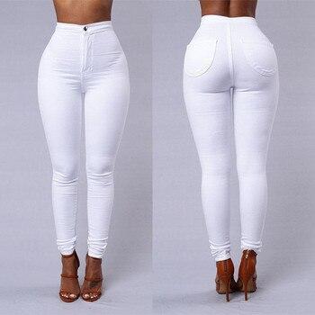 2019 HOT SALE Jeans Women Denim Skinny Jeggings Pants High Waist Stretch Jeans Slim Pencil Trousers spodnie damskie 1