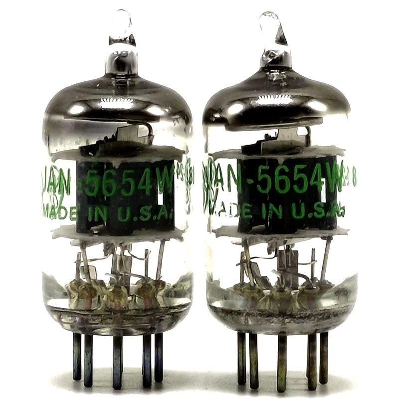 4 Tubes 5654W  X 4 JAN Sylvania USA NOS 6AK5 6J1 5654 Vacuum Tube