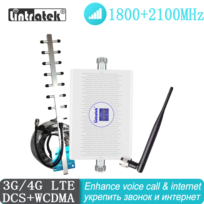 Freeship Signal Booster 1800 2100 Mhz 4G 3G Repeater UMTS Cell Amplifier Dual Band LTE 3G WCDMA 2100 Cellular Hot Sale Mobile
