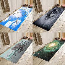 Abstract 3D series of flannel printing absorbent anti-skid home entry mat bathroom mat pebble series flannel printing home anti slip absorbent entry mat bathroom mat door mat bedside mat