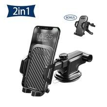 Senhomtog Car phone holder stand adjustable and foldable Dashboard Windshield Gravity Sucker Phone Holder