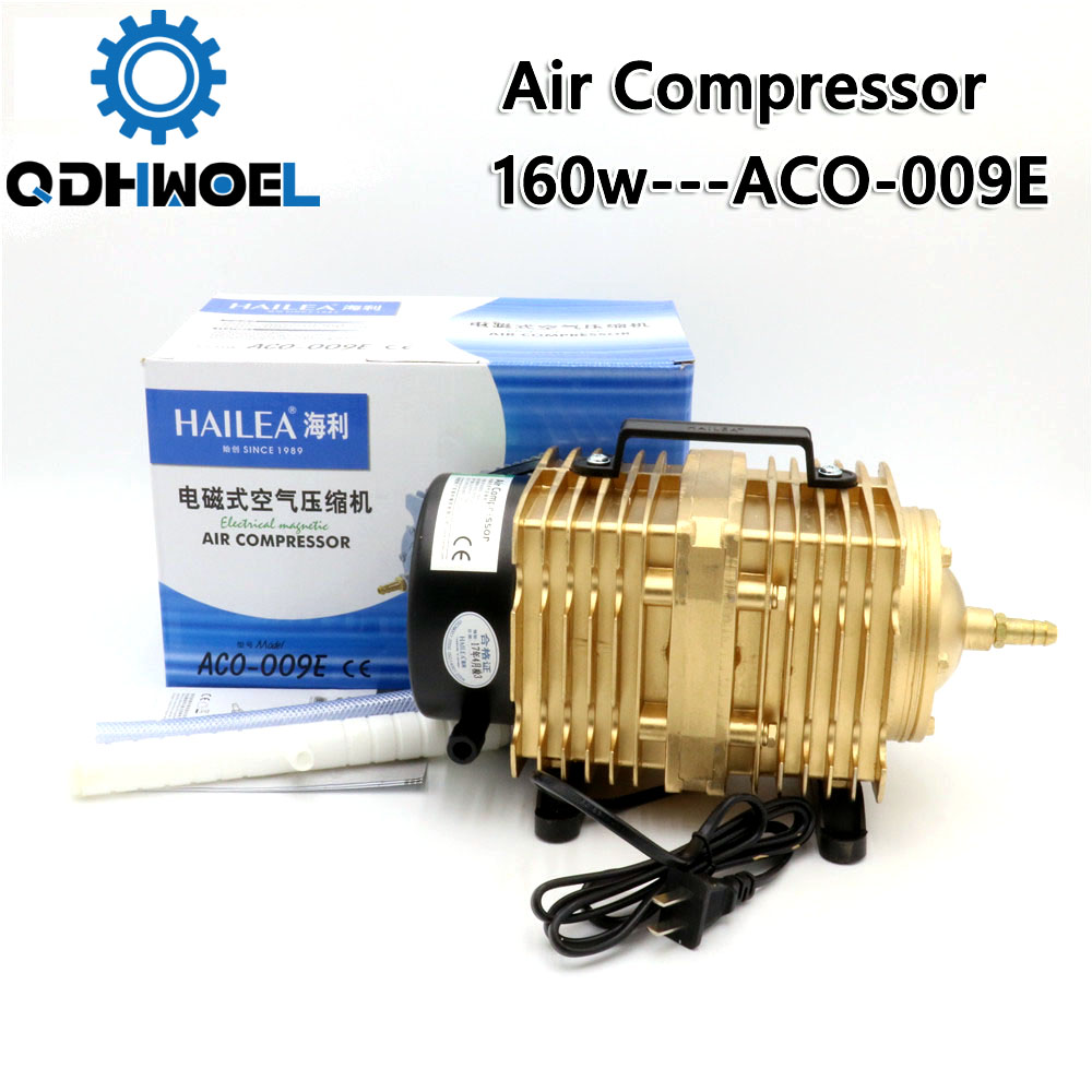 160W Air Compressor Electrical Magnetic Air Pump <font><b>ACO</b></font>-<font><b>009E</b></font> for CO2 Laser Engraving Cutting Machine image