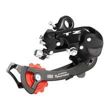 1 pçs mtb mountain bike desviador traseiro novo preto liga de alumínio 6 7 velocidade tz50 desviador traseiro peças da bicicleta nova