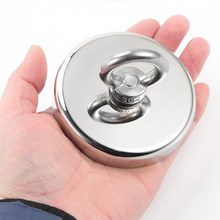 Strong Magnet Pot Fishing Magnet Deep Sea Salvage Magnetic Hook Permanent Neodymium NdFeB Magnetic Fishing Tool with Rope(China)