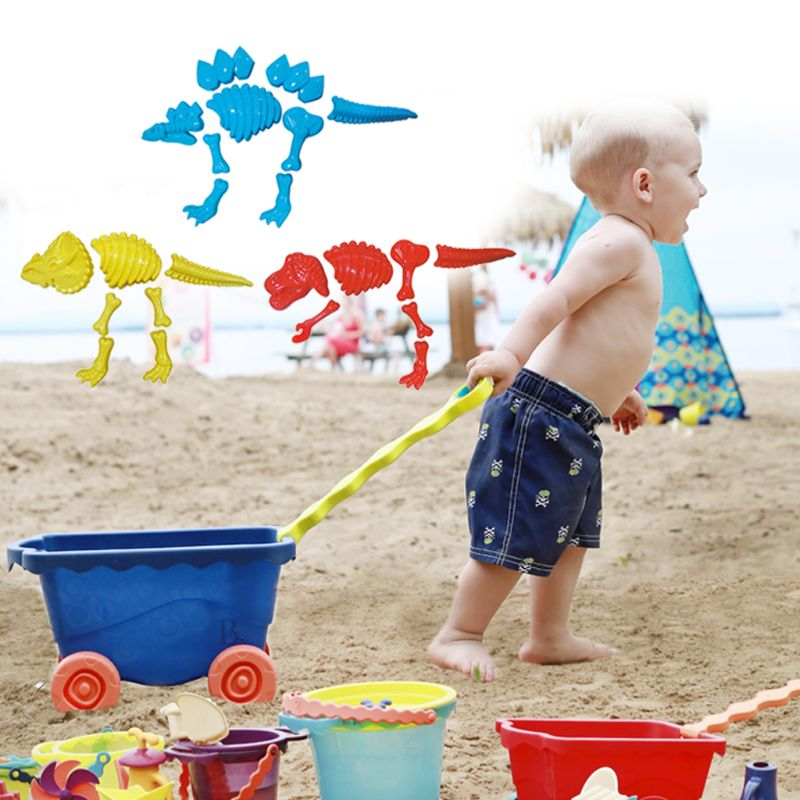 Funny Dinosaur Skeleton Bone Sand Mold Beach Toys For Baby Children Kids Summer
