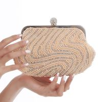 Pearl Diamond Dinner Bag Bride Wedding Bracelet Ring Buckle Women's Bag