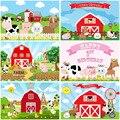 Mocsicka фон для фотосъемки с изображением фермы красный сарай Бур трактор животные фон для фотосъемки детский день рождения