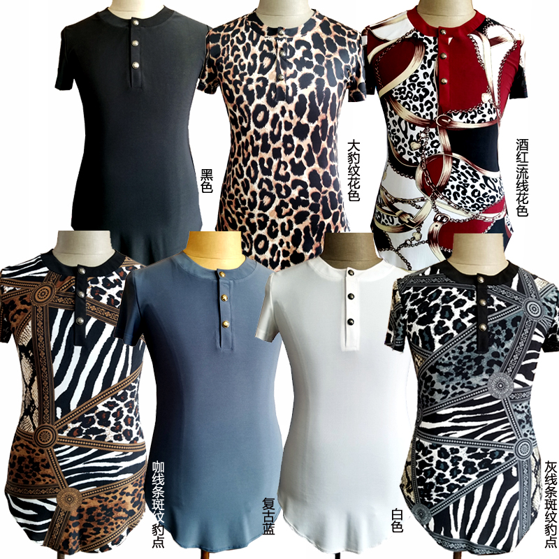 Latin Dance Shirts Men Short Sleeve Fashion Print Dancing Top Male Salsa Rumba Tango Cha Cha