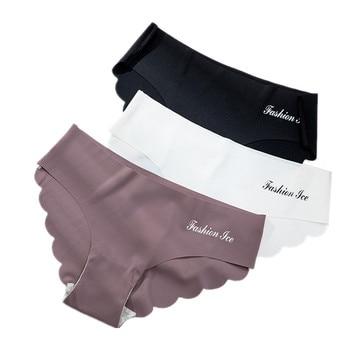 Panties For Women Seamless Panty Set Solid Invisible Underwear  Low Waist Briefs Women's Underpants Lingerie Dropship 3 Pcs
