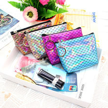 Coin Purse Lipstick Pocket-Bag Wallet Girls Mini Portable Fashion Women New Printed Fish-Scale-Pattern