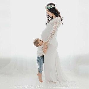 Image 3 - Mutterschaft Fotografie Requisiten Mutterschaft Kleider für Foto Schießen Lange Spitze Schwangerschaft Kleid Fotografie Schwangere Frauen Kleidung