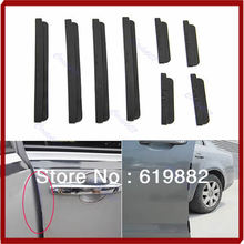 цена на Black Car Door Strip Scratch Protector Auto Guards Edge Trim Molding Protection 8pcs/set