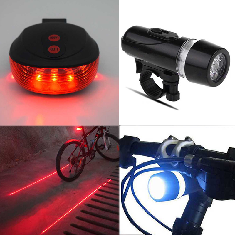 USB Rechargeable 18650 LED Bike Bicycle Front Head Lights with Warning Bell