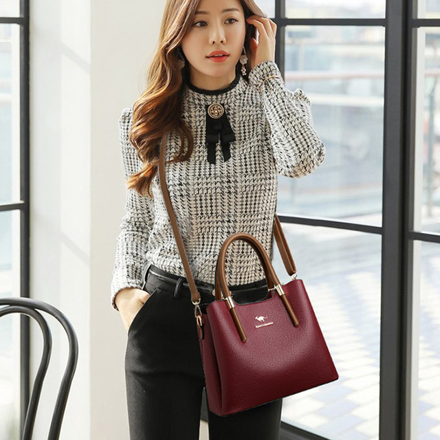 Leather Casual Crossbody Bags for Women 2020 Ladies Luxury Designer Tote Handbag Top-Handle High Quality Shoulder Bag Sac A Main 4