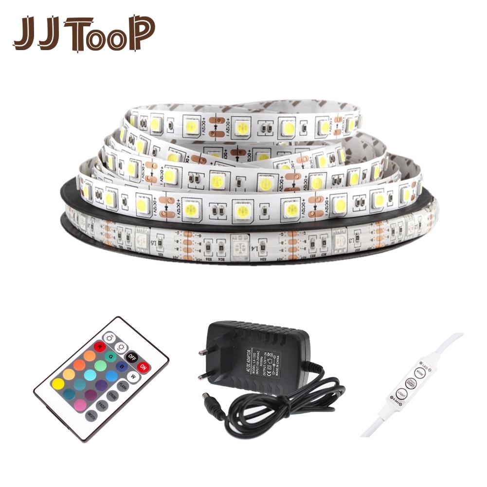 DC 12V LED Strip Light Tape Flexible Diode Ribbon SMD 5050 2835 RGB 24Key 44Key Power Remote Waterproof Lighting 1M 2M 3M 4M 5M