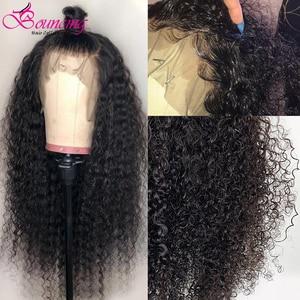Image 5 - Kıvırcık insan saçı peruk 13x4 derin kısmı şeffaf dantel ön zıplayan saç peruk 8 24 inç kıvırcık 150 yoğunluk remy önceden koparıp peruk