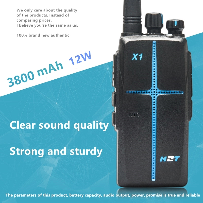 Walkie Talkie HZT-X1  High-Power 12W Two-Way Radio Station Hotel Family 3800mAh Clear Sound Quality Rugged And Durable