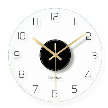 Nordic Large White Bedroom Wall Clock Glass Wall Watch Modern Design Wall Clocks Decorative Watches Living Room Clocks II50BGZ