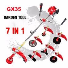 GX35 MOWER 7 in 1 Grass cutter Multi Brush cutter Petrol strimmer Tree Pruner
