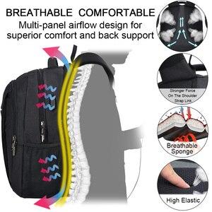 Image 4 - OSOCE сумка для ноутбука рюкзак 15,6 дюймов с зарядка через USB Порты и разъёмы для наушников Водонепроницаемый Бизнес рюкзаков сумок