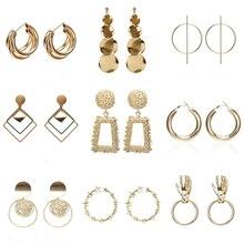 Beilan Fashion Statement Earrings Big Geometric Earrings for Women Hanging Dangle Earrings Drop Earring Modern Jewelry YEA263 golden statement earrings 2018 ball geometric earrings for women round dangle earrings drop modern art fashion party jewelry